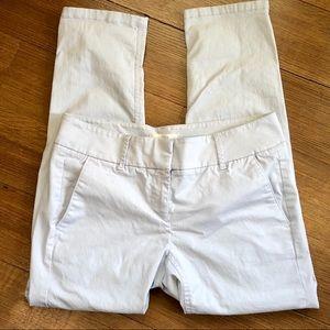 LOFT Khaki Pants Marisa Straight Ankle Light Gray
